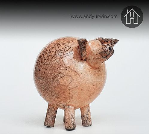 Raku 'fat' pig