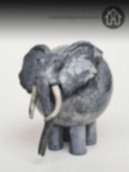 Handmade Ceramic Raku Elephant
