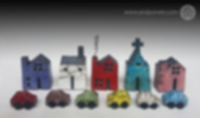 small houses & tiny cars