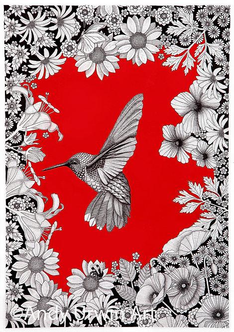 'Hummingbird Zentangle'