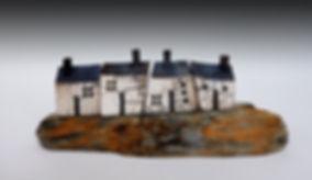house, raku,driftwood, set, clay, ceramics