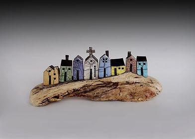 houses on driftwood