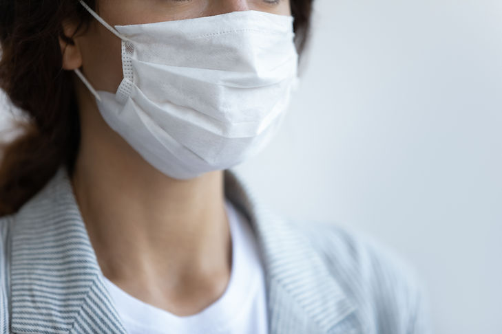 Close up focus on respiratory protective