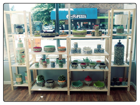 Kristy Lombard Pottery has arrived in Tillamook!