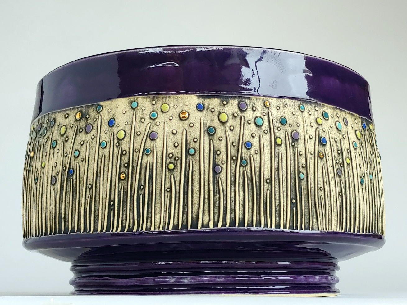 Purple Fancy Bowl  2