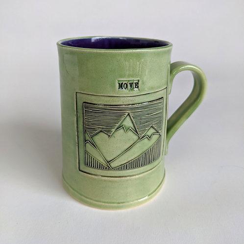 Move Mountains Stamp Mug