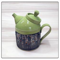 Green Fancy Teapot