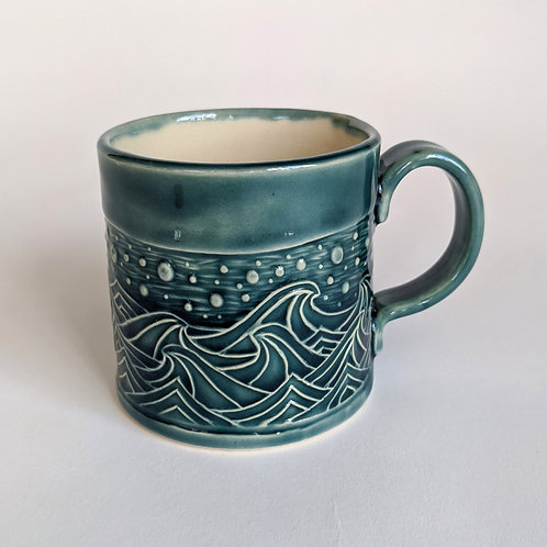 Small Mug Wave Design