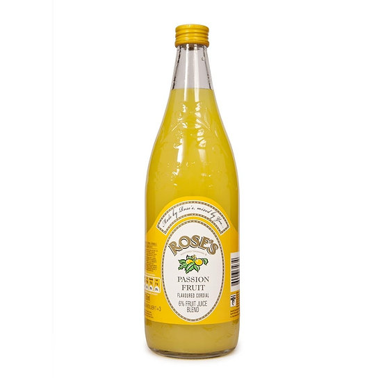 Rose's Passion Fruit Cordial - 750ml