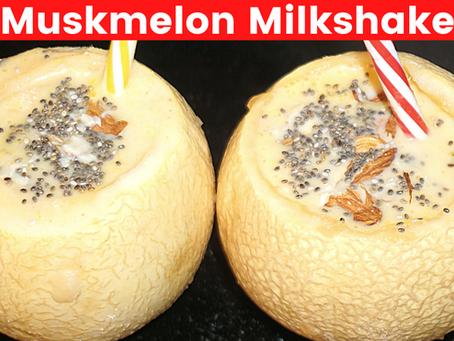 Weight Loss Friendly Muskmelon Milkshake Recipe | Vibrant Varsha