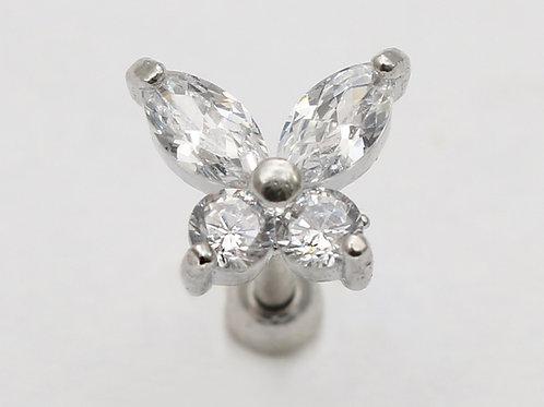 """Ohrpiercing """"Crystall Butterfly"""" mit SWAROVSKI Kristallen"""