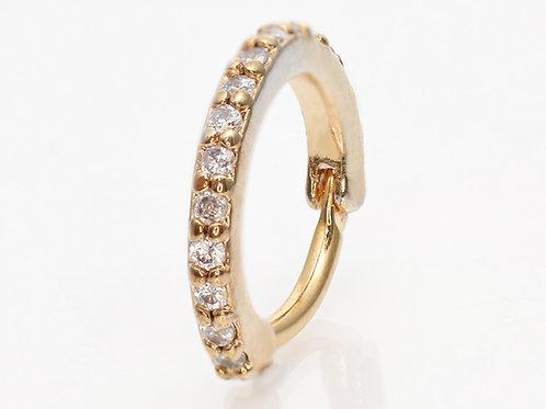 Ohrpiercing Segmentclicker vergoldet mit SWAROVSKI® Kristallen