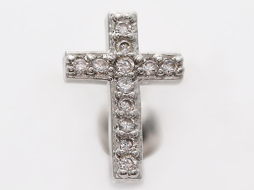 "Ohrpiercing ""Crystall Cross"" mit SWAROVSKI® Kristallen"