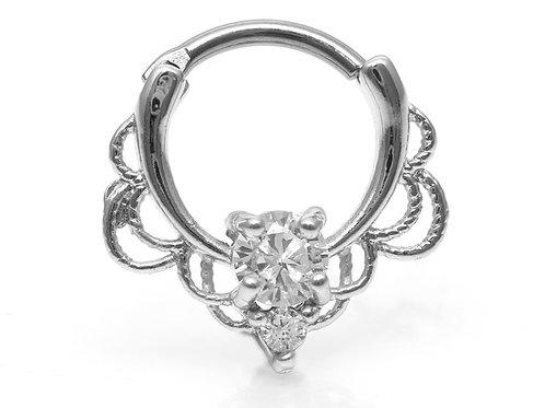 """Septum / Daithpiercing """"Ornamentic Crystalls"""" mit SWAROVSKI® Kristallen"""