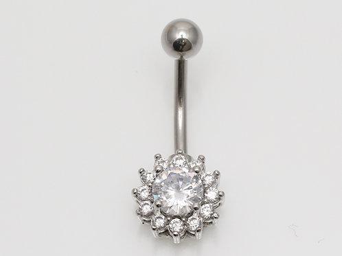 """Buchnabelpiercing """"Taurus Crystall"""" mit SWAROVSKI® Kristallen"""