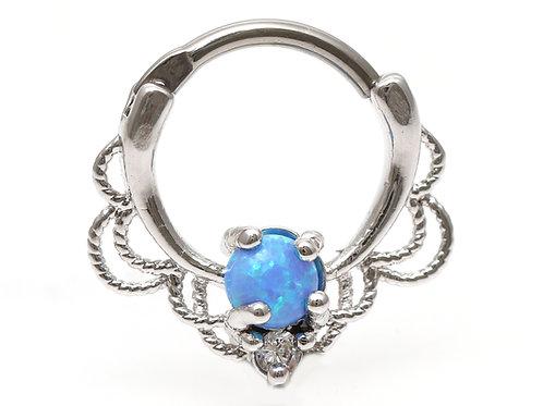 """Septumpiercing """"Orient Opal"""" mit einem SWAROVSKI® Kristall"""