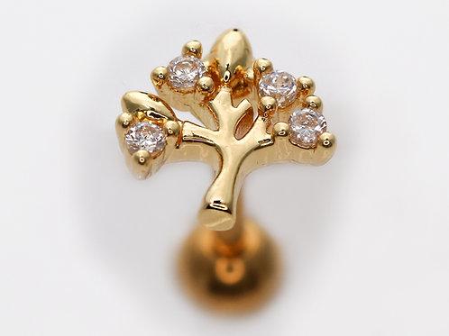 """Ohrpiercing """"Crystall Tree"""" mit SWAROVSKI® Kristallen"""
