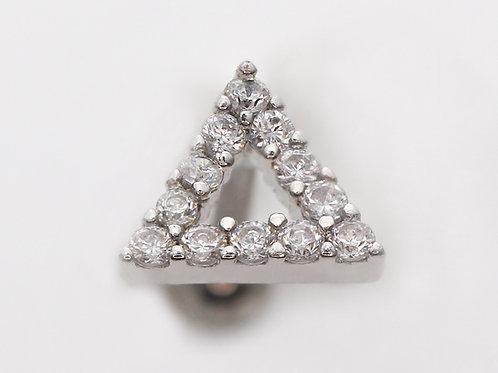 """Ohrpiercing """"Triangel Crystall"""" mit SWAROVSKI® Kristallen"""