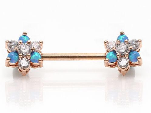 """Brustpiercing roségold """"Opal Flow"""" mit SWAROVSKI® Kristallen"""