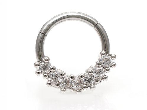 "Septum / Daithpiercing ""Mirage Diamonds"" Clicker"