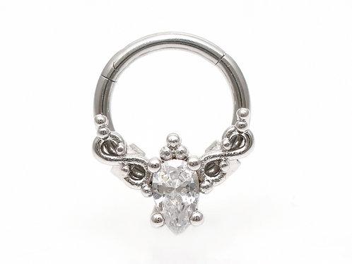 "Septum / Daithpiercing ""Royal Diamond"" mit einem SWAROVSKI® Kristall"
