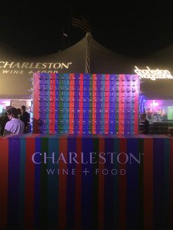 Custom Built Wine Glass Display for cb events