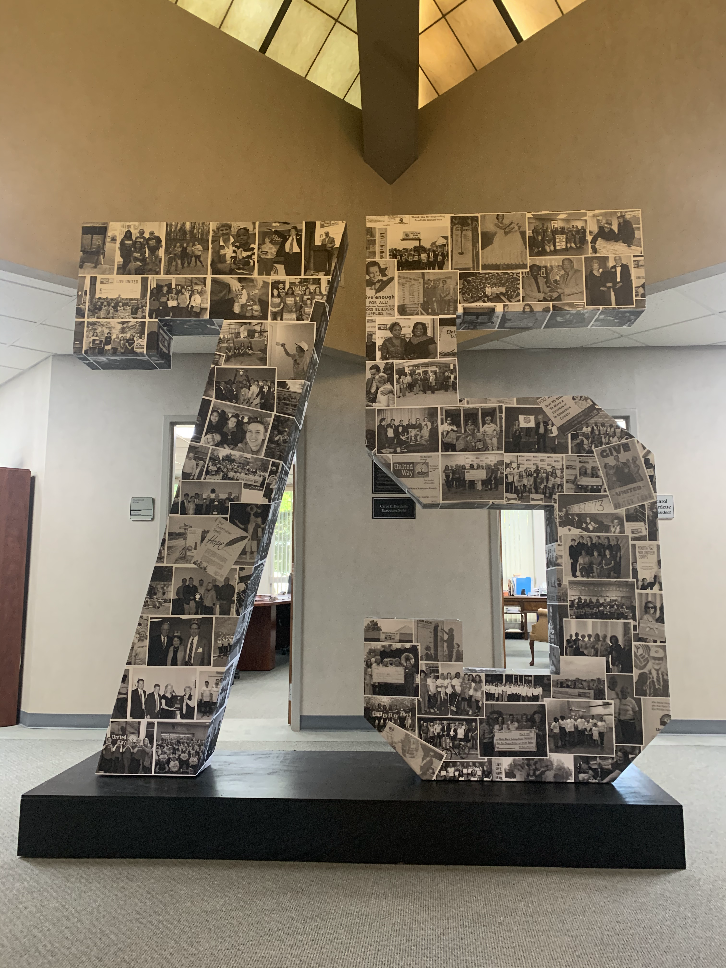 8' letters built with custom stand
