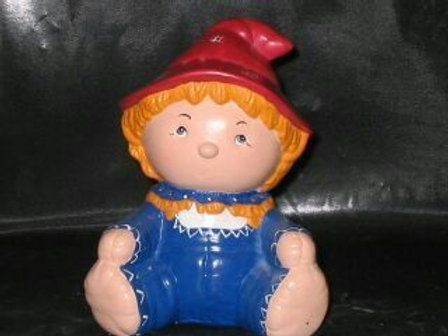 Cute baby scarecrow