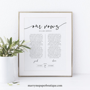 Our Vows Print