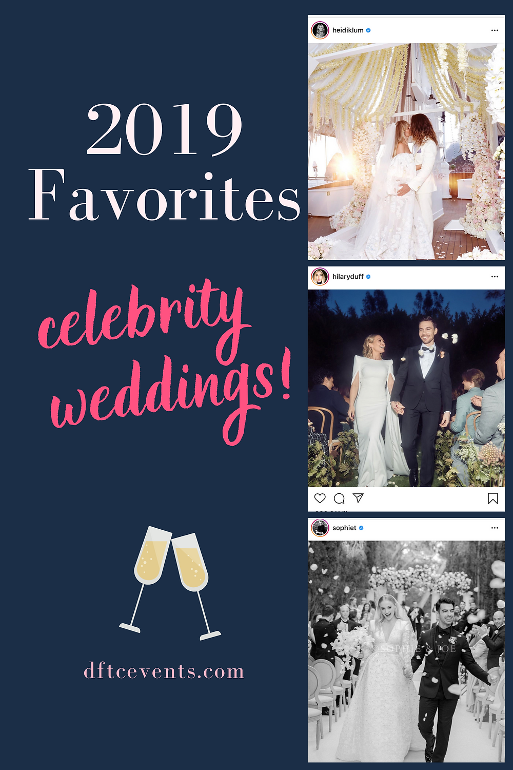 Our Favorite Celebrity Weddings of 2019