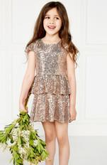 Sequin Off the Shoulder Dress Flower Girl