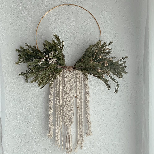 "Macrame Wreath Wall Hanging ""Astrid"""