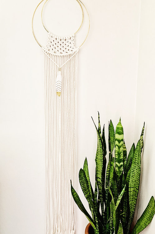 "Macrame Wall Hanging ""Goldie"""