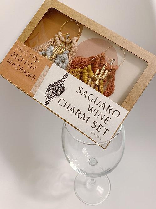 Wine Charm Set  | Saguaro |