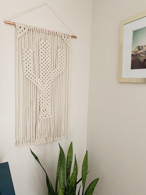 """Macrame Wall Hanging """"Saguaro"""""""