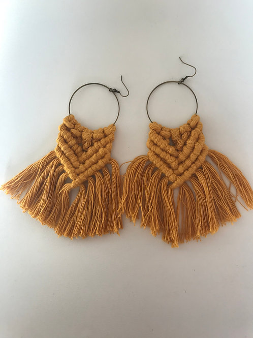 SICADIA Macrame Hoop Earrings
