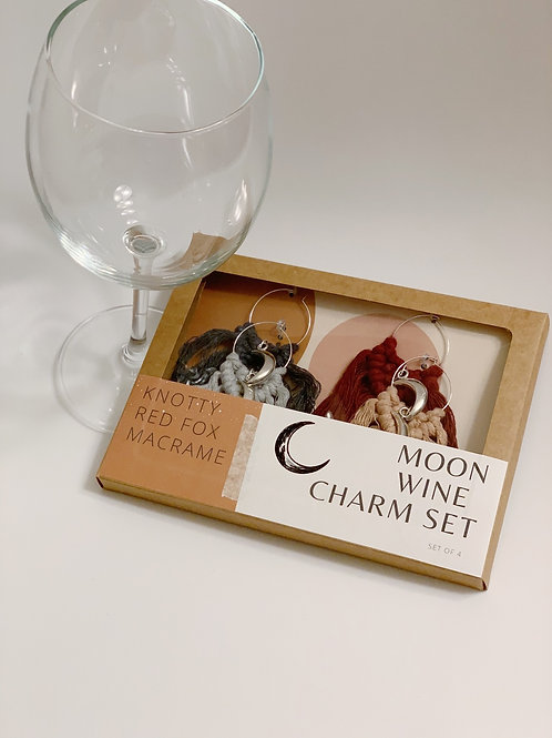 Wine Charm Set  | Moon |