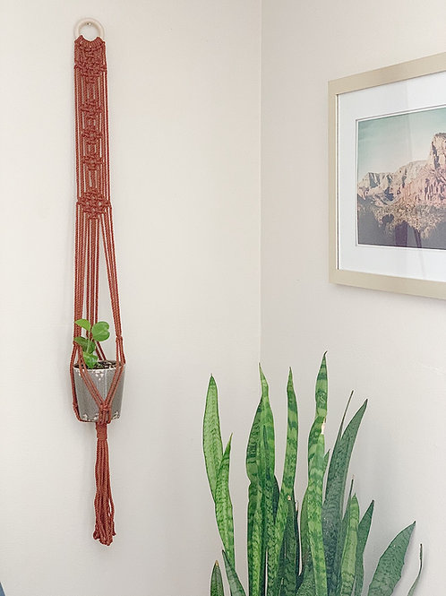 "Macrame Plant Hanger ""Jewel"""