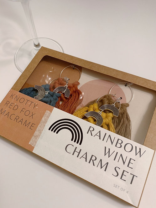 Wine Charm Set  | Rainbow |