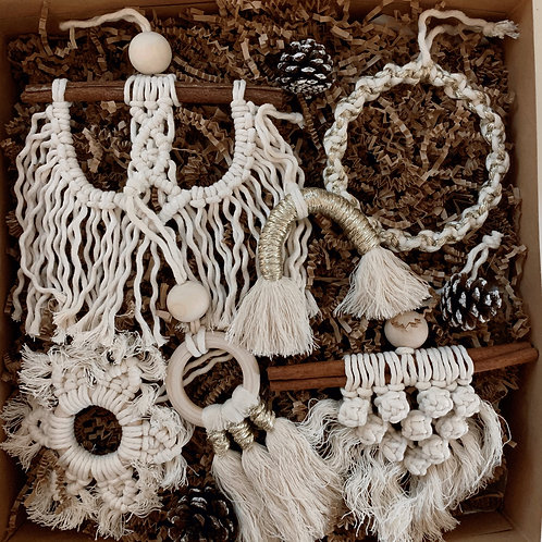 Macrame Ornaments Gift Set