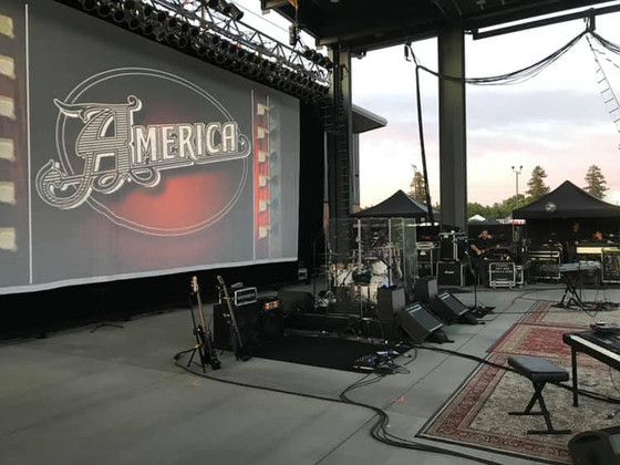 The Band America Hires Backline Source for West Coast Shows!