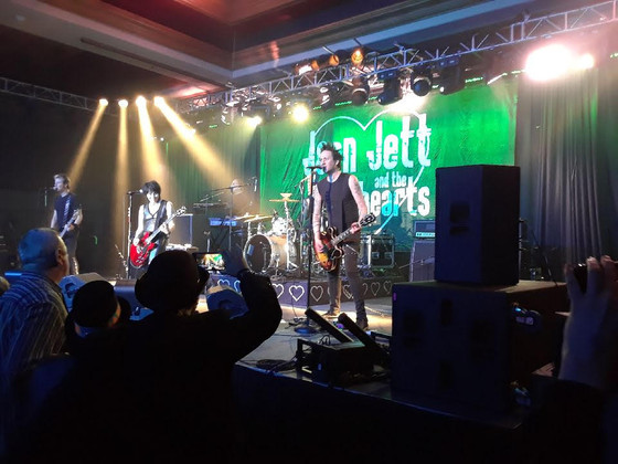 Joan Jett Rocks With Backline Source on New Years Eve!