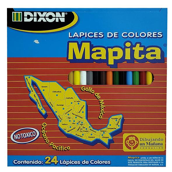 COLORES DIXON MAPITA 24 PZAS