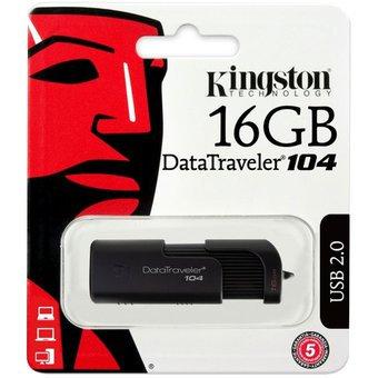 MEMORIA USB 16GB KINGSTON DT104 NEGRO