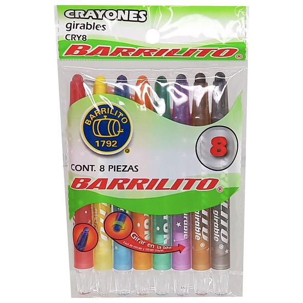 CRAYONES GIRABLES BARRILITO CRY8 8 PZAS