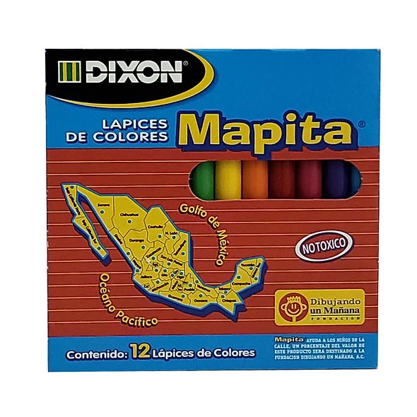 COLORES DIXON MAPITA 12 PZS CORTOS