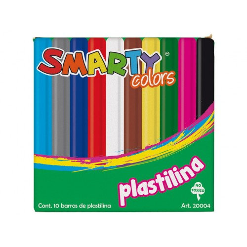 PLASTILINA SMARTY COLORS  C/10 BARRITAS