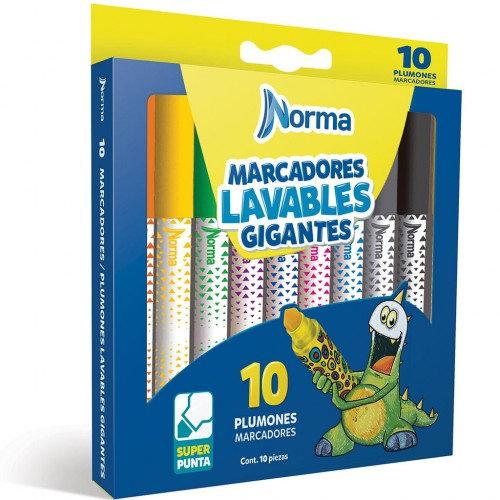 ,ARCADOR PARA COLOREAR GIGANTE C/10 PZAS NORMA