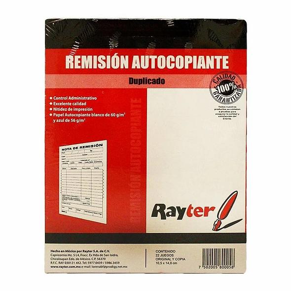 BLOCK REMISION AUTOCOPIANTE  DUPLICADO RAYTER  10.5 X 14 CM