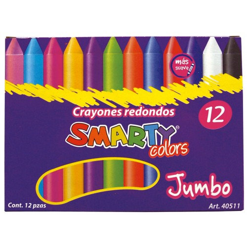 CRAYON ESCOLAR REDONDO JUMBO CJA C/12 COLORES